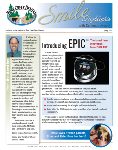 colorado springs dental newsletter spring 2014